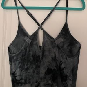 Volcom maxi dress acid wash pattern with pockets